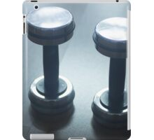 Dumbbell gym metal weights in gym health club iPad Case/Skin