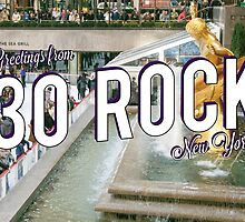 Vintage 30 Rock Postcard by gpunch
