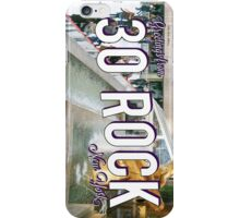 Vintage 30 Rock Postcard iPhone Case/Skin