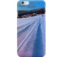 Path up to the mountains in winter time | landscape photography iPhone Case/Skin