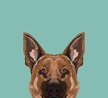 Skylar - German Shepherd gifts for dog people dog lover gifts german shepherd owners perfect gifts by PetFriendly