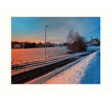 The end of the railroad | landscape photography Art Print