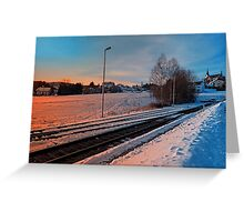 The end of the railroad | landscape photography Greeting Card