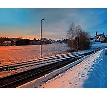 The end of the railroad | landscape photography Photographic Print