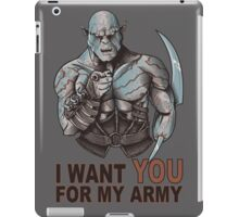 I WANT YOU FOR MY ARMY iPad Case/Skin
