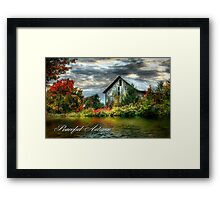 Peaceful Autumn Framed Print