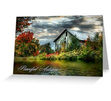 Peaceful Autumn Greeting Card