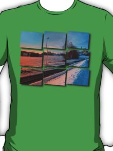 The end of the railroad | landscape photography T-Shirt