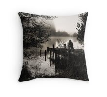 Quietly Reflecting Throw Pillow