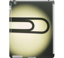 Paper clip silhouette artistic photo iPad Case/Skin