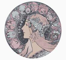 Alphonse Mucha Zodiac Goddess One Piece - Short Sleeve