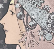 Alphonse Mucha Zodiac Goddess Sticker