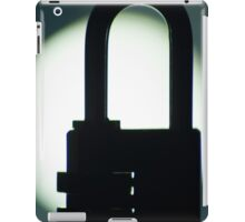 Combination code padlock silhouette photograph iPad Case/Skin