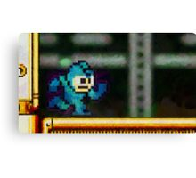 Mega Man retro painted pixel art Canvas Print