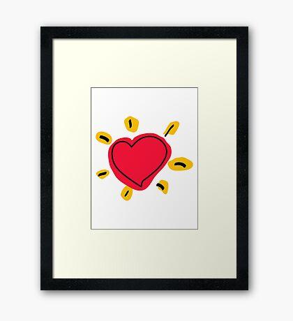 Shinning Heart Framed Print