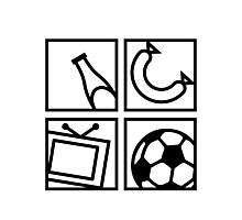 Soccer Elements Photographic Print
