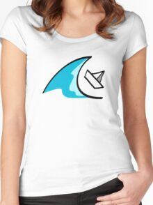 Sailboat in the Waves Women's Fitted Scoop T-Shirt