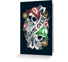 Game Over 2 Greeting Card