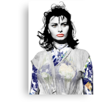 """Title: """"Sexiness Comes From Within"""", Boy on a Dolphin, Sophia Loren, Inspired Earth Girl, Woman Canvas Print"""