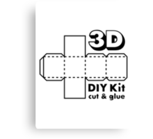 3D Do it Yourself Kit Canvas Print