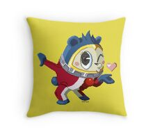 Here comes the bear Throw Pillow