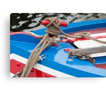 Barge Ropes Canvas Print