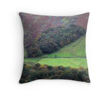 Autumnal Hillside Throw Pillow