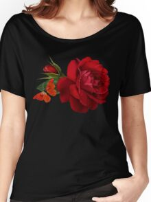 rose red Women's Relaxed Fit T-Shirt
