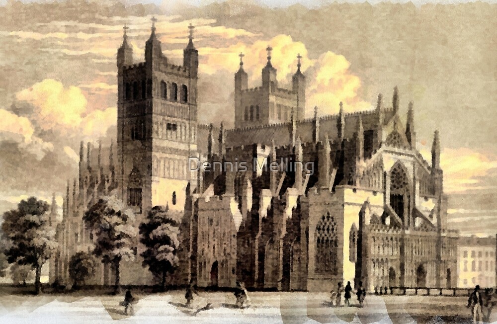 Exeter Cathedral, England founded 1050 - all products by Dennis Melling