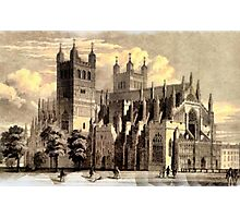 Exeter Cathedral, England founded 1050 Photographic Print