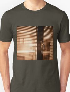 Appartment window blind sepia black and white film silver gelatin analog photograph Unisex T-Shirt