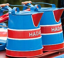 Red and Blue Barge Buckets by niksheppard