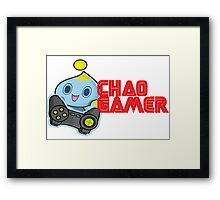 Chao Gamer Framed Print