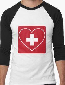 Get Well Soon, Doctor, Heart, First Aid, Swiss Army, Victorinox, Sexy Nurse Men's Baseball ¾ T-Shirt