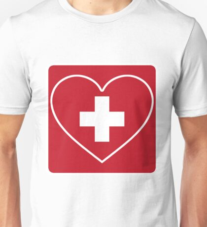 Get Well Soon, Doctor, Heart, First Aid, Swiss Army, Victorinox, Sexy Nurse Unisex T-Shirt