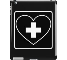 Get Well Soon, Sexy Nurse, Black, Heart, First Aid, Medical iPad Case/Skin