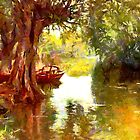 A Pleasure Boat Rests in a Shady Dell - all products by Dennis Melling