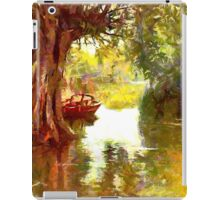 A Pleasure Boat Rests in a Shady Dell - all products iPad Case/Skin