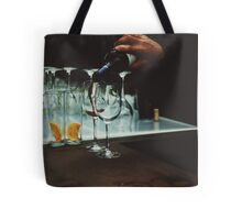 Drinks bar in party xpro cross processed c41 slide film analog photograph Tote Bag