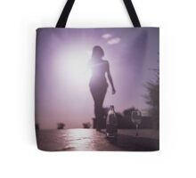 Young lady by pool color film Hasselblad medium format  fine art analog female nudes and erotica Tote Bag