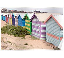 Bathing Boxes • Brighton Beach • Victoria Poster