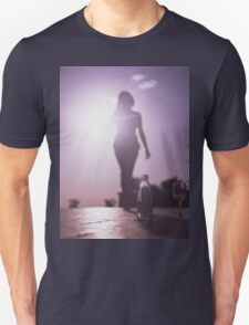 Young lady by pool color film Hasselblad medium format  fine art analog female nudes and erotica T-Shirt