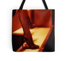Legs of fashion store mannequin shop clothes dummy black and white 35mm film silver gelatin analog photo  Tote Bag