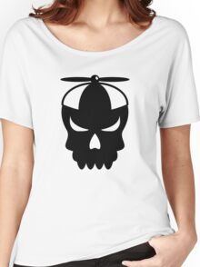 Funny skull with propeller Cap Women's Relaxed Fit T-Shirt