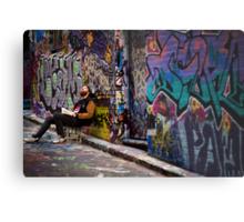 Alley life - Graffiti  Melbourne Metal Print