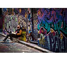Alley life - Graffiti  Melbourne Photographic Print