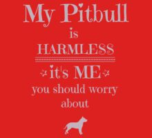 My Pitbull is harmless - it's me you should worry about Baby Tee