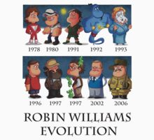 Robin Williams Evolution by tumtalat