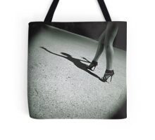 Spirit surreal sexy  legs black and white silver gelatin square analog Pentacon Six photo Tote Bag