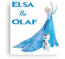 Elsa and Olaf Frozen Canvas Print